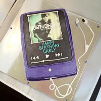 Justin Bieber Ipod by Dawn Henderson