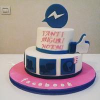 Sociale media cake facebook