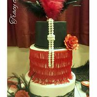 1920s style flapper cake