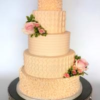 Textured Buttercream Wedding