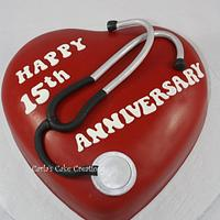 Heart Transplant Cake