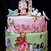 Vintage Dick and Jane Birthday Cake