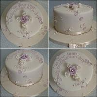 First communion roses cake