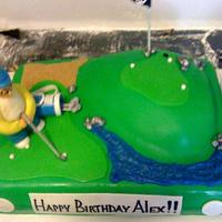 Golf Cake by NumNumSweets