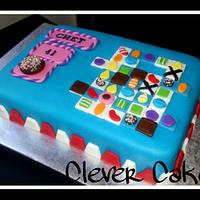 Candy Crush Saga Cake