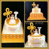 Baptism Cake by ALotofSugar