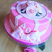 40th Roses Cake
