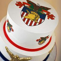 West Point Academy Grooms Cake