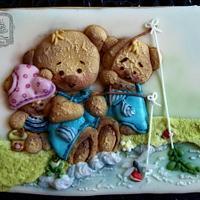 Teddy Bears Fishing