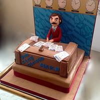 Anchorman 40th Birthday cake for a real 'Anchorman'