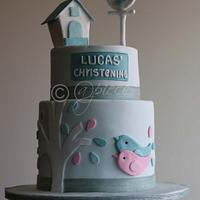 Bird themed Christening cake...