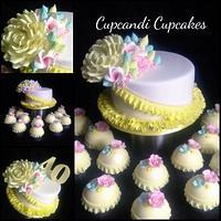 Pastels pretty petal flower cake by Cupcandi Cupcakes