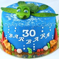 sammy turtle cake