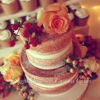 Bare/Naked Mini Fall Wedding Cake