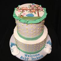 Owl Baby Shower Cake by Lani Paggioli