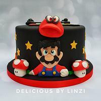 Super Mario/Dragonball cake