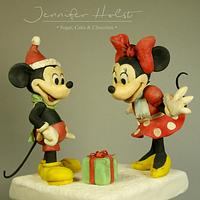 Vintage style figurines for christmas workshop