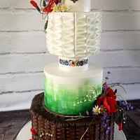 polish heritage wedding cake