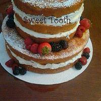 Double Barrel Wedding Anniversary Cake