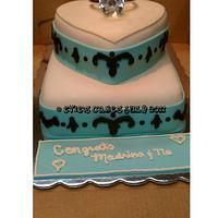 Surprise Engagement Cake