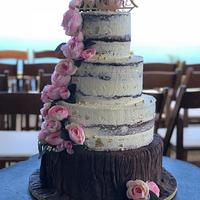 Wedding Tiers -Tree Trunk with naked layers
