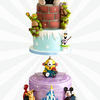 Cartoon Wedding Cake