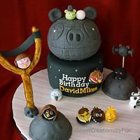 Angry Bird Star wars Birthday cake