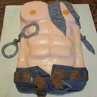 50 Shades of Grey torso cake