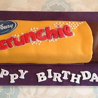 Crunchie Bar Birthday cake