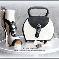 Chanel purse and sugar high heel.