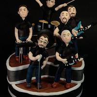 Music band cake topper