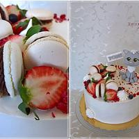 Drip cake with sweet cat by Tortolandia