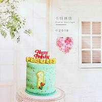 Fresh cream cake with simple decoration