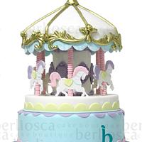 Carousel in pastel colours