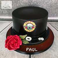 x Guns N' Roses Top Hat Cake x