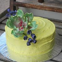 Rustic Lemon Blueberry buttercream cake by Deepa Shiva - Deecakelicious