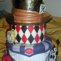 Mad Hatter/Alice in Wonderland Cake