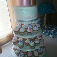 Baby Shower Cake & Cupcake Tier
