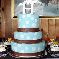 Brown and Blue Baby Shower