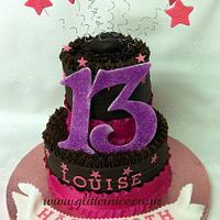 2 Tiered Chocolate Cake by Alli Dockree