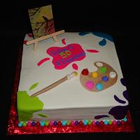 Art Party Cake