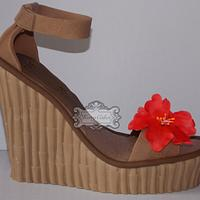 Sugar wedge shoe