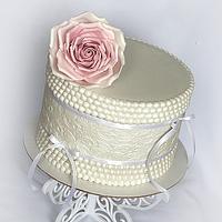 Vintage birthday cake..