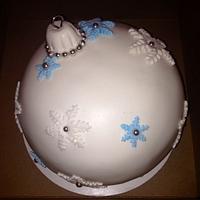 Christmas Ornament  ball cake