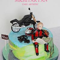 Painted Cake for motorcyclist, journalist and photographer