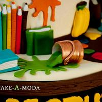 Kindergarten School Birthday Cake