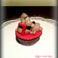 Little bear cupcake