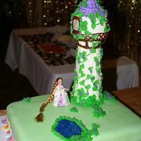 Tangled Inspired Cake
