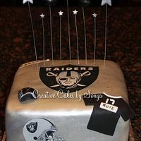Oakland Raiders Birthday Cake