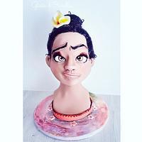 🌸 Moana bust cake 🌸